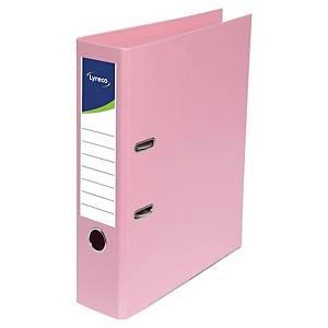 Lyreco ordners met hefboom, A4, PP, rug 45 mm, roze, per ordner