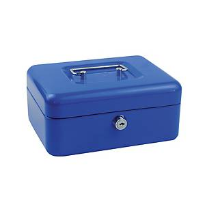 EAGLE SMALL BLUE SECURE CASH BOX 200 X 160 X 90MM