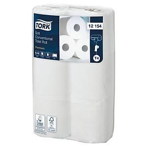 Toiletpapir Tork T4 Premiuj, 2-lag, hvid, sæk a 96 ruller