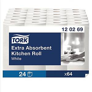 TORK KITCHEN PLUS PAPER TOWELS 230MM X 1.8M ROLLS - PACK OF 2