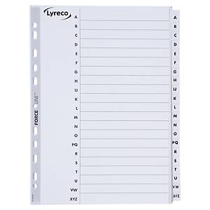 Lyreco alphabetical dividers cardboard 11-holes