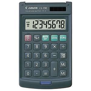 Calcolatrice Canon LS-39E, visualizzazione 8 cifre, grigio scuro