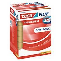Tape Tesa klar, 19 mm x 66 m, eske à 8 ruller