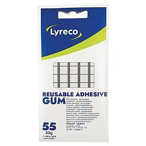 Häftmassa Lyreco, förp. med 55st.