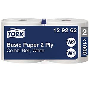 Tork Basic Wiper Combi Roll wiping roll recycled W1 / W2 - pack of 2