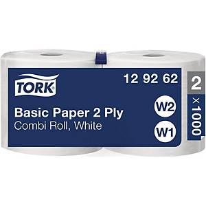 Rouleau de papiers ménages Tork Universal 320, 2plis, blanc