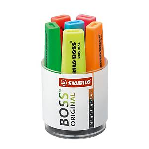 Stabilo Boss Assorted Colour Highlighters - Desk Set of 6