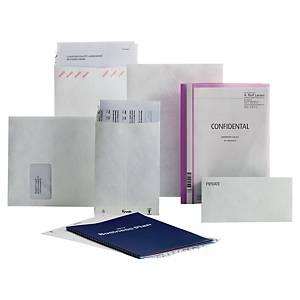 Tyvek® zakomslagen, B4a, vouwbodem, wit, 70 g, 330 x 38 x 250mm, per 50 omslagen