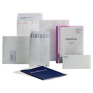 Tyvek® zakomslagen, D4, vouwbodem, wit, 70 g, 250 x 50 x 381 mm, per 50 omslagen