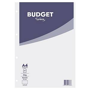 Lyreco Budget bloc de bureau A4 ligné collé en tête 80 feuilles
