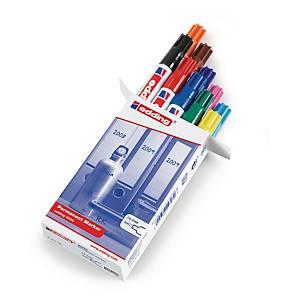 Edding 3000 permanente markers, fijn, ronde punt, assorti kleuren, per 10 stuks