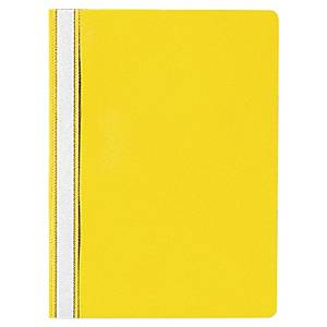 Chemise de présentation Lyreco Budget A4, jaunir, emballage de 25