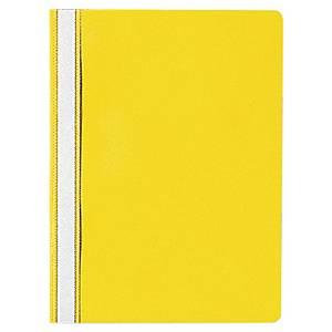 Lyreco Budget panorámás gyorsfűző - nem lefűzhető, sárga, 25 darab/csomag