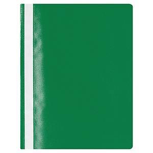 Lyreco Budget panorámás gyorsfűző - nem lefűzhető, zöld, 25 darab/csomag