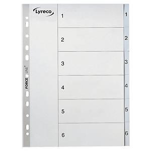 Répertoire Lyreco A4, PP, 1-6, gris