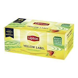Herbata czarna LIPTON Yellow Label, 50 torebek