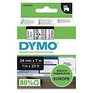 Schriftband Dymo D1 53710, Breite: 24mm, schwarz auf transparent