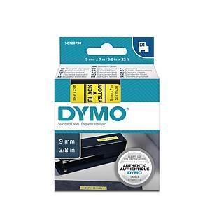 Schriftband Dymo D1 40918, Breite: 9mm, schwarz auf gelb