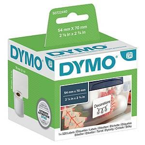 Grosse Mehrzweck-Etiketten Dymo, 70x54 mm, weiss, Packung à 320 Stück