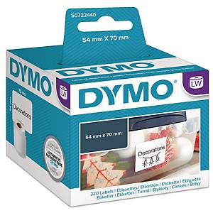 Universaletiket Dymo LabelWriter, 54 x 70 mm, rulle a 320 etiketter