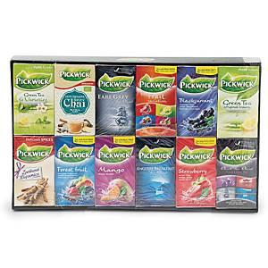 Te Pickwick Sortiment display, 12 æsker a 12 forskellige smagsvarianter