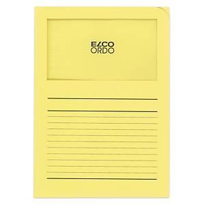 Dossier d organisation Elco Ordo Classico 29489, imprimé, jaune,100unités