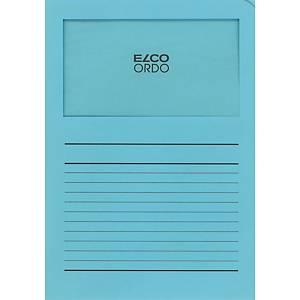 Elco 420513 Ordo pochettes coins avec fenêtre bleu pâle - boîte de 100