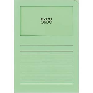 Elco 420506 Ordo pochettes coins avec fenêtre vert pâle - boîte de 100