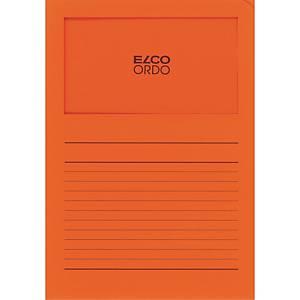 Chemise coin Elco 420511 Ordo Classico à fenêtre, A4, papier, orange, 100x
