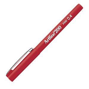 Artline 200 Fineliner 0.4mm Red
