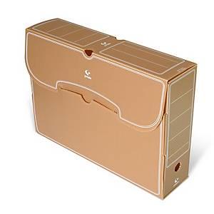 Caixa de arquivo morto Grafoplás - fólio - lombada 260 mm - castanho