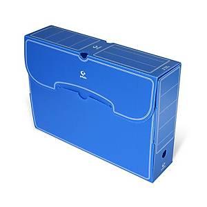 Caja de archivo definitivo Carchivo - folio - lomo 100 mm - azul