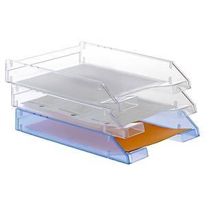 Pack 2 bandejas de sobremesa Archivo 2000 715-TL - poliestireno - transparente