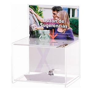 CIPE1258 LET/BX W/BROCHURE HOLDER TRANSP