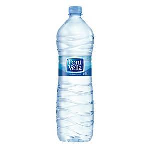 Pack de 12 garrafas de água Font Vella - 1,5 L
