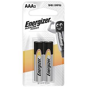 에너자이저 알카라인 건전지 AAA 2개입