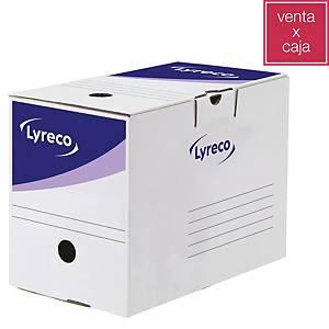Caixa de arquivo Lyreco - A4 - lombada 200mm - branco