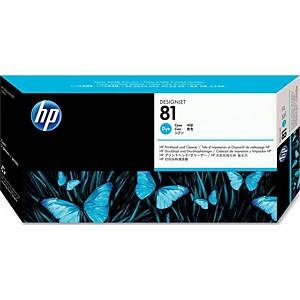 HP 81 Cyan Dye Printhead and Printhead Cleaner (C4951A)