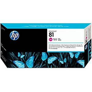 HP 81 Magenta DesignJet Dye Printhead and Printhead Cleaner (C4952A)