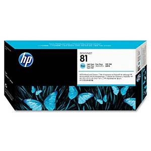 HP 81 Light Cyan DesignJet Dye Printhead and Printhead Cleaner (C4954A)