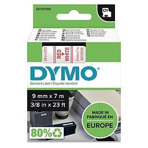 Schriftband Dymo D1 40915, Breite: 9mm, rot auf weiß