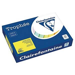 Papier couleur A4 Clairefontaine Trophée - 80 g - jaune soleil - 500 feuilles