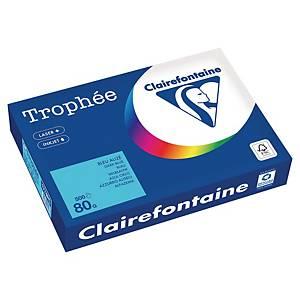 Papier couleur A4 Clairefontaine Trophée - 80 g - bleu alizé - 500 feuilles