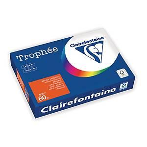 Clairefontaine Trophee 1873 väripaperi A4 80g voimakas oranssi, 1kpl=500 arkkia