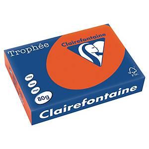 Trophée farebný papier Clairefontaine, A4 80g/m² -  tehlovočervený