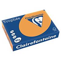 Barevný papír Clairefontaine Trophée, A4, 80 g/m², světle oranžový