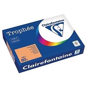 Papier couleur A4 Clairefontaine Trophée - 80 g - clémentine - 500 feuilles