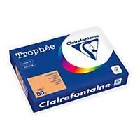 Farebný papier Clairefontaine, Trophée, A4, 80 g/m², svetlooranžový