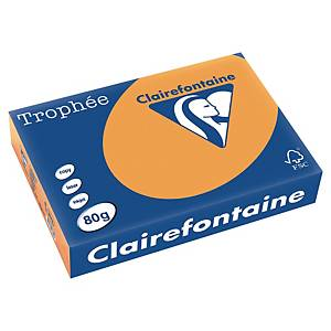 Trophée farebný papier Clairefontaine, A4 80g/m² - svetlooranžový