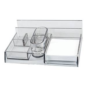 DESK ORGANISER MULTIPURPOSE DUAL SMOKY